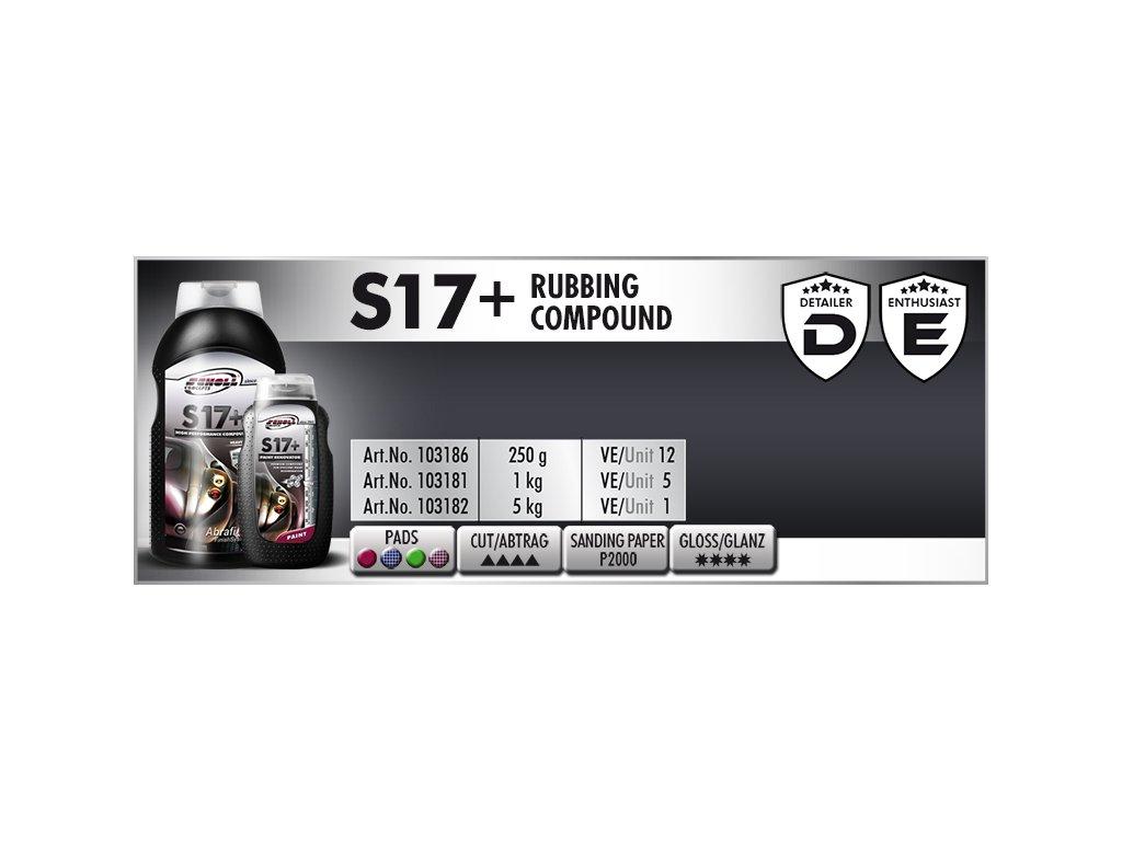 Scholl S17+ Rubbing Compound 5kg středně silná leštící pasta