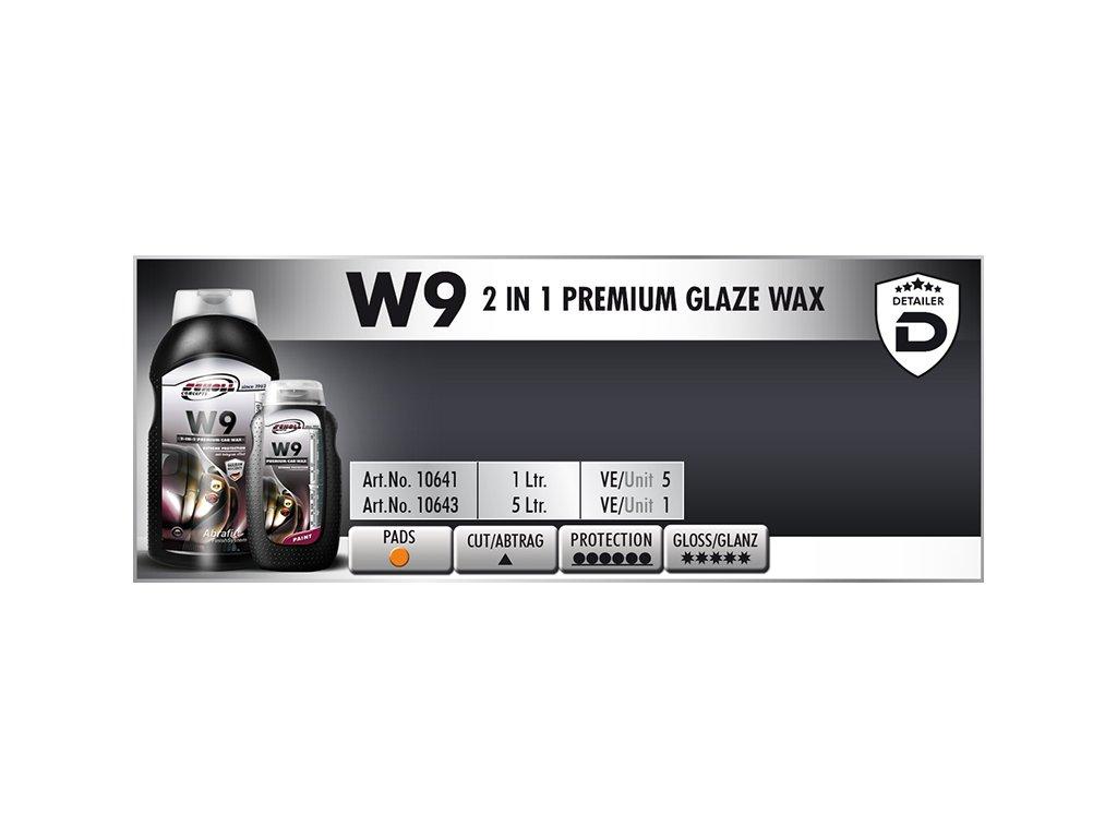 Scholl W9 2in1 Premium Glaze Wax 1L tekutý vosk