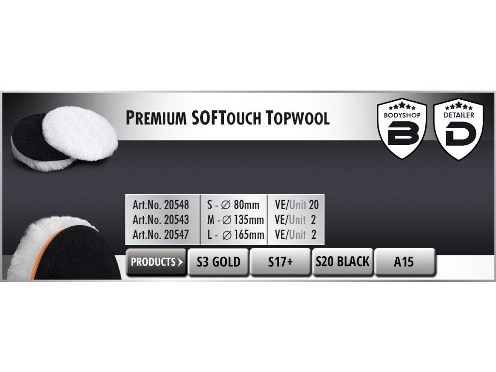 Scholl S Premium SOFTouch-TopWool 85mm white leštící kotouč