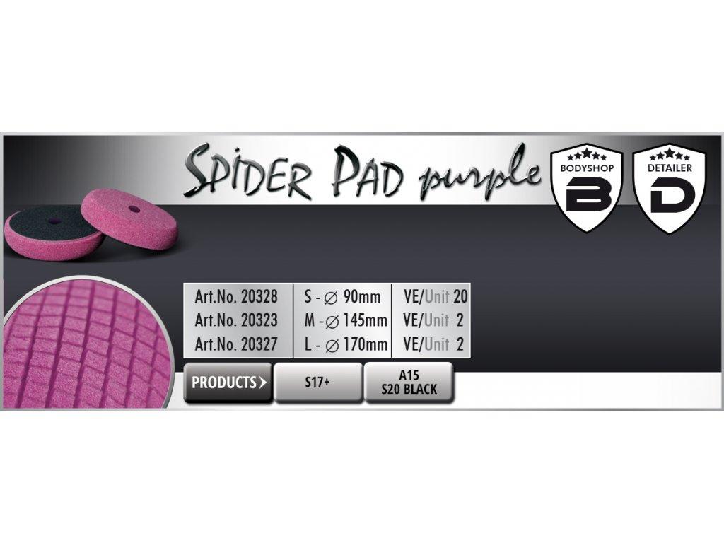 Scholl S SpiderPad  90/25mm purple leštící kotouč