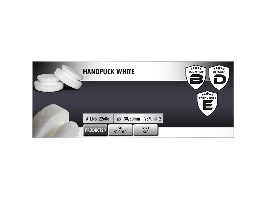 Scholl HandPuck 130/50mm white ruční leštící kotouč