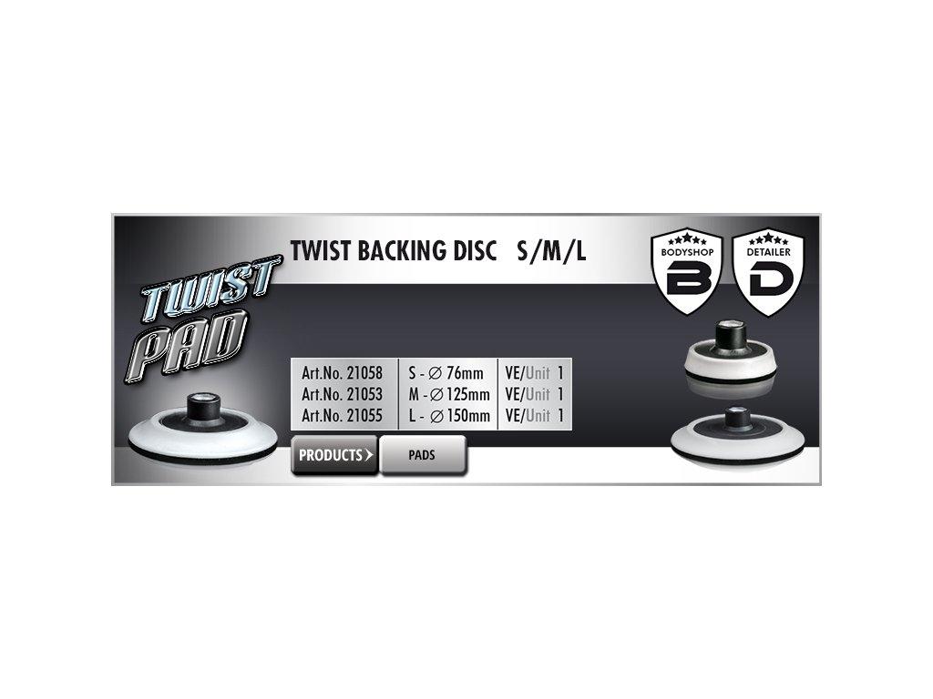 Scholl S TWIST Backing Disc 76mm M14 unašeč