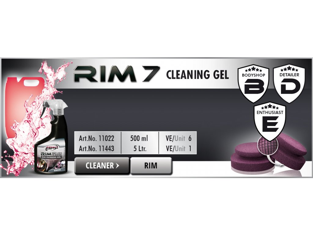Scholl RIM 7 Rim Cleaning Gel 500ml čistič kol