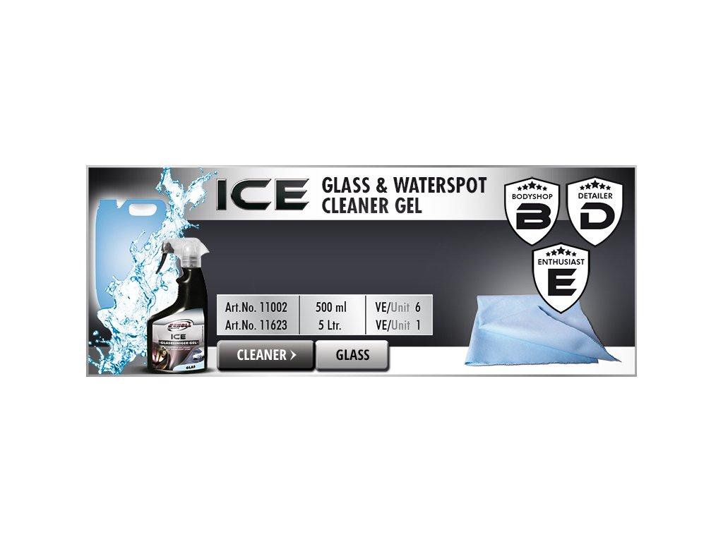 Scholl ICE Glass & Waterspot Cleaner Gel 5L odstraňovač skvrn vodního kamene