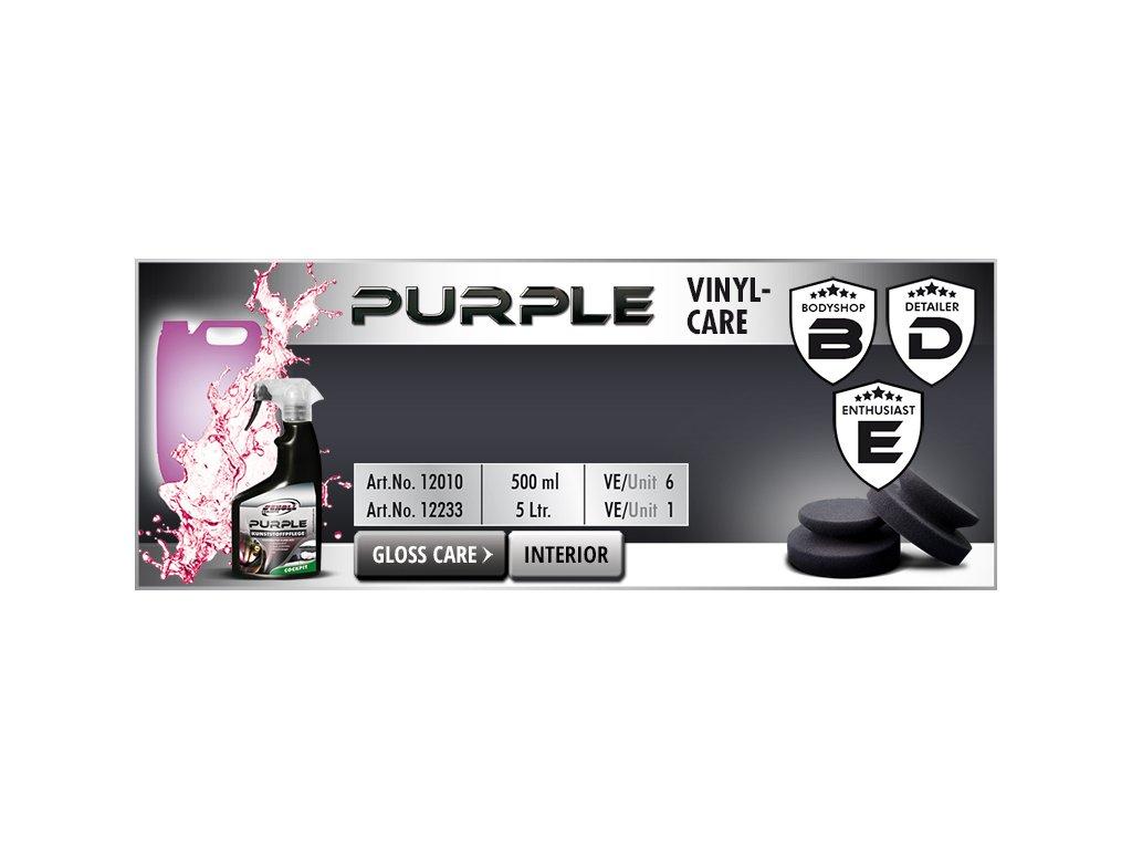 Scholl PURPLE Vinylcare liquid 500ml ošetření plastů