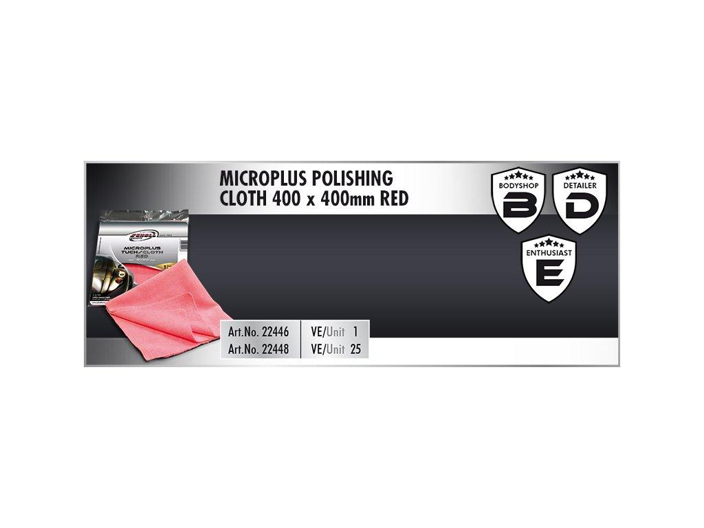 Scholl MicroPLUS Polishing Cloth 40x40cm red utěrka