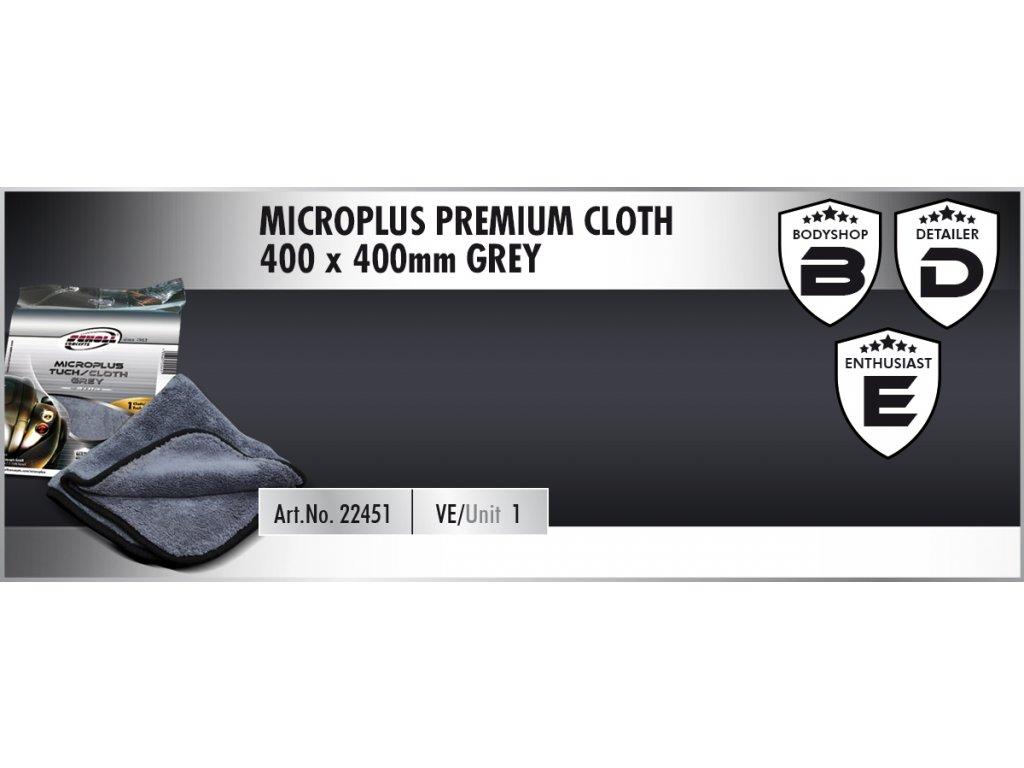 Scholl MicroPLUS Premium Cloth 40x40cm grey utěrka