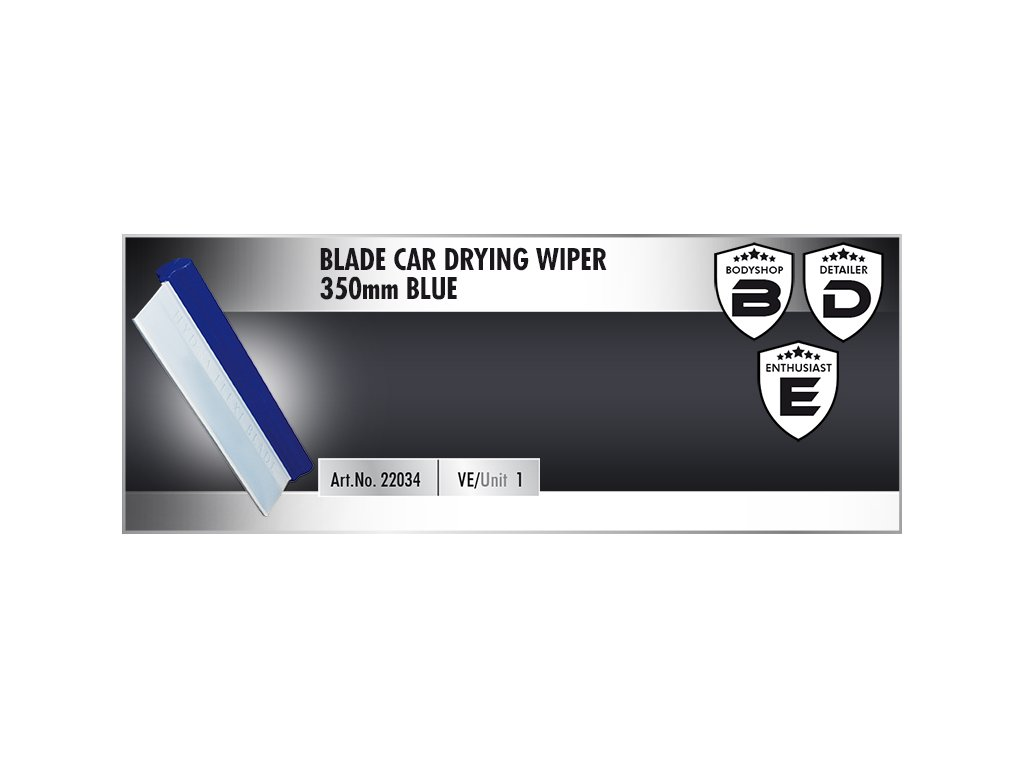 Scholl BLADE Car Drying Wiper 35cm blue stěrka na vodu