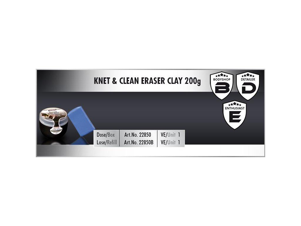 Scholl KNET&CLEAN Eraser Clay 200g blue Box univerzální clay