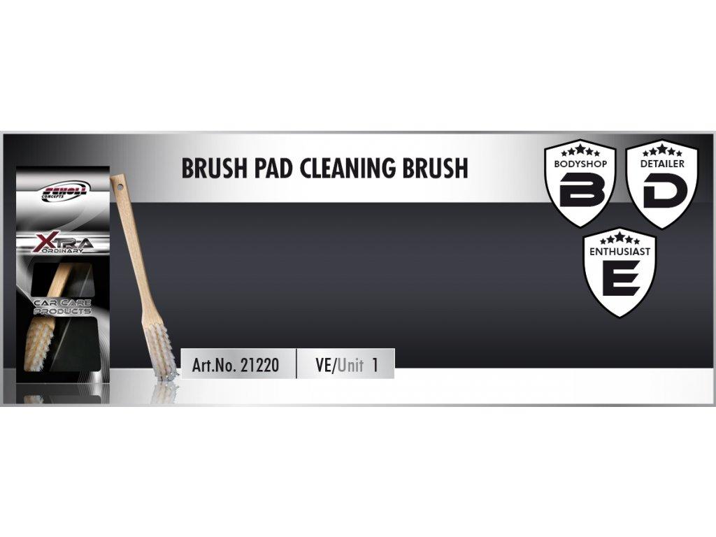 Scholl BRUSH Pad Cleaning Brush kartáč na leštící kotouče