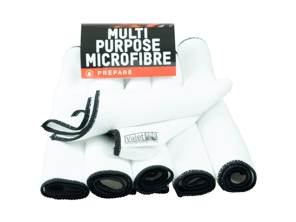ValetPro Multi Purpose Microfibre 6 pack White 35x35cm mikrovláknové utěrky 6ks