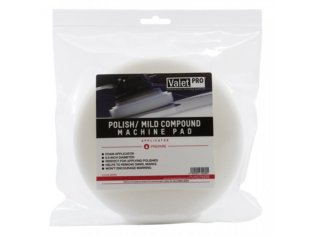 valetpro polish mild compound machine pad