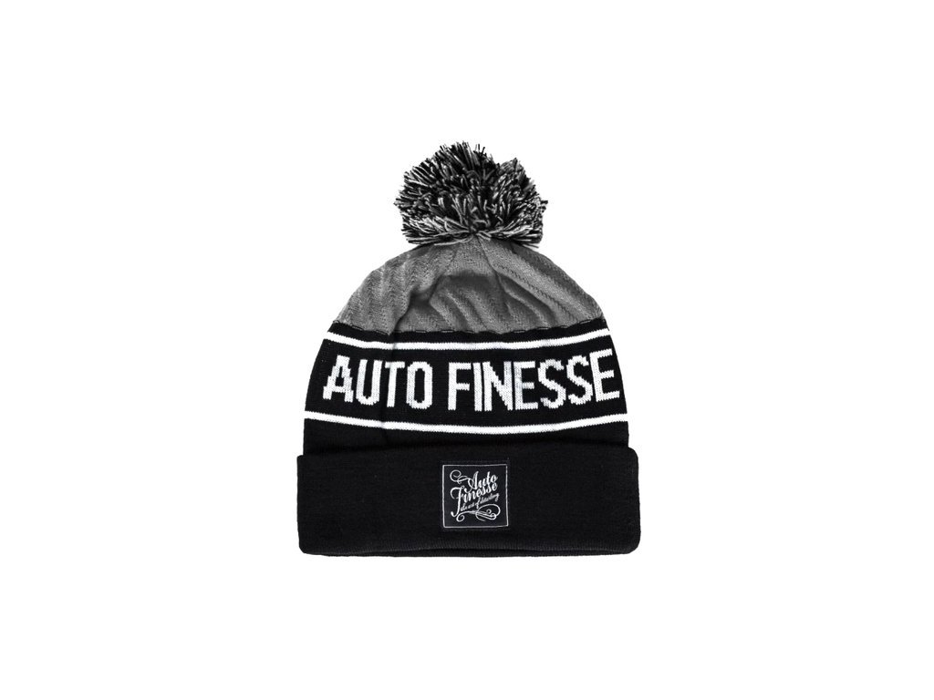 auto finesse bobble knitted beanie grey