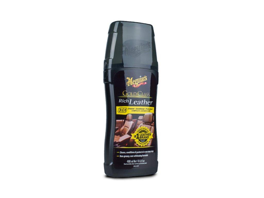 Meguiars Gold Class Rich Leather Cleaner Conditioner cistic a kondicioner na prirodni i umelou kuzi 400 ml 2018121812173