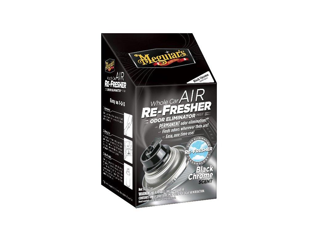 Meguiars Air Re Fresher Odor Eliminator Black Chrome Scent cistic klimatizace pohlcovac pachu osvezovac vzduchu vune Black Chrome 71 g 20195714194
