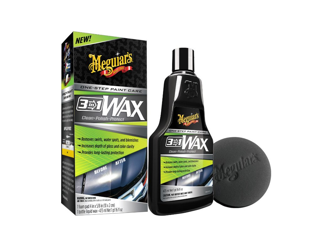 G191016 meguiars 3 in 1 Wax lestenka s voskem 3 v 1 473 ml