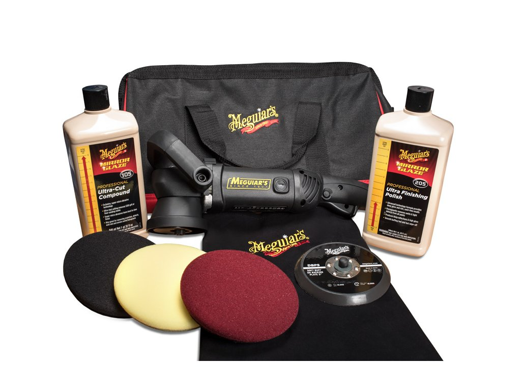 mgkit5da meguiars mirror glaze soft buff da kit 5