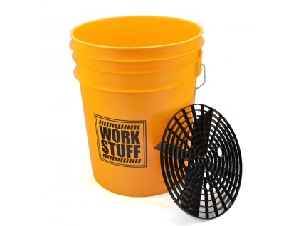 work stuff bucket grit yellow