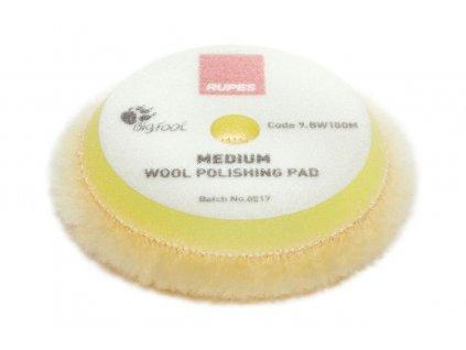 rupes Medium Wool polishing pads 9.BW100M 1