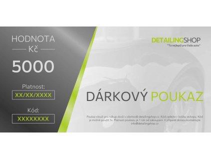 Darkovy poukaz DS 2021 5000 vzor