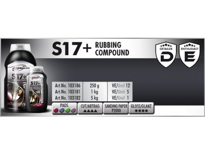 Scholl S17+ Rubbing Compound 1kg středně silná leštící pasta