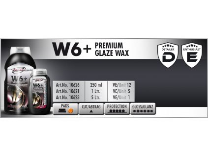Scholl W6+ Premium Glaze Wax 250ml tekutý vosk