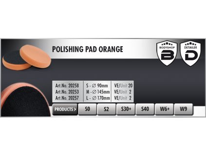 Scholl S Polishing Pad 85/25mm orange leštící kotouč