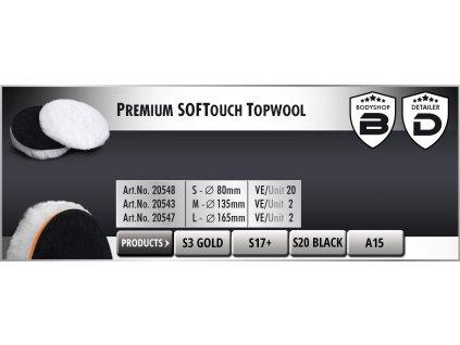 Scholl L Premium SOFTouch-TopWool 170mm white leštící kotouč