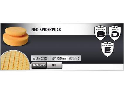 Scholl NEO SpiderPuck 130/50mm honey ruční leštící kotouč