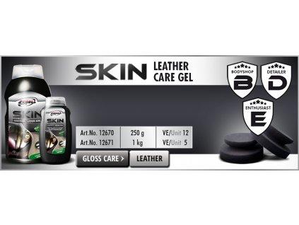 Scholl SKIN Leather Care Gel 250g mléko na kůži