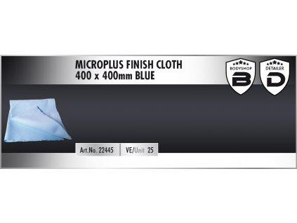 Scholl MicroPLUS Finish Cloth 40x40cm blue utěrka