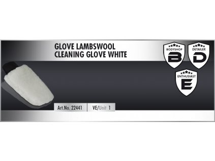 Scholl GLOVE Lambswool Cleaning Glove white mycí rukavice