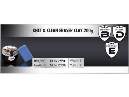 Scholl KNET&CLEAN Eraser Clay 200g blue refill  univerzální clay