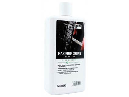 valetpro maximum shine tyre gel 500