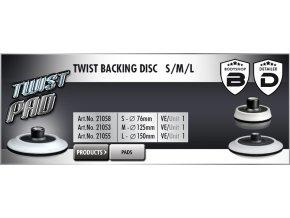 Scholl L TWIST Backing Disc 150mm M14 unašeč