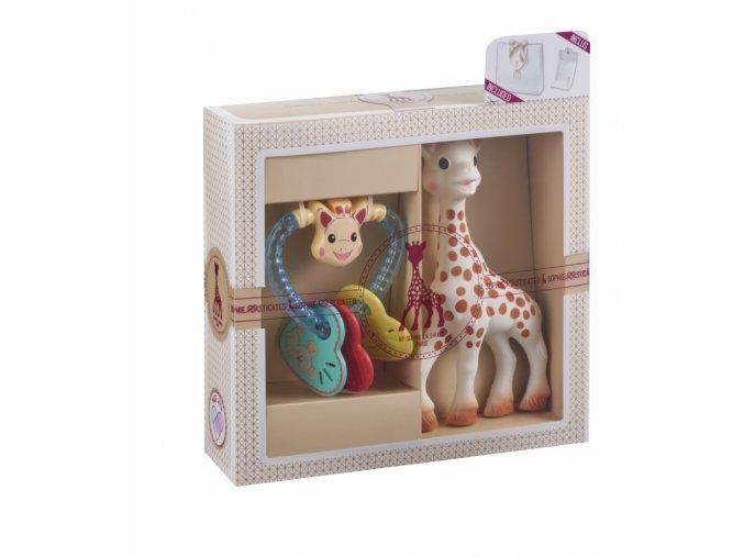 Vulli Dárkový set - žirafa Sophie + chrastítko