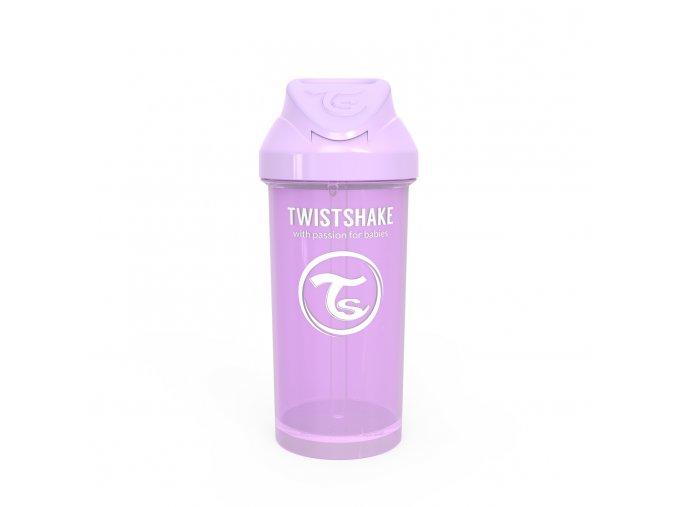 Láhev s brčkem 360 ml 12+m Pastelově fialová