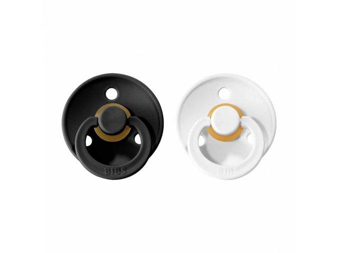 BIBS Colour cumlíky z prírodného kaučuku 2ks - veľkosť 1 Black / White