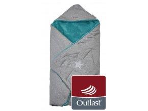 zavinovačka multifunkční Mazlík Outlast 2020 šedá/mentolová