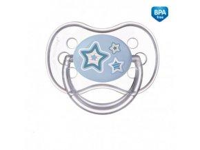 Canpol babies Dudlík 0-6m silikonový symetrický NEWBORN BABY modrý