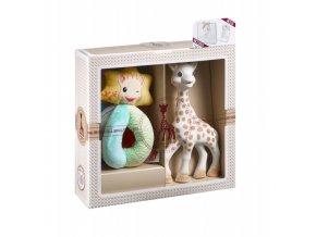 Vulli Dárkový set - žirafa Sophie + chrastítko ''Sense & Soft''