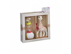 Vulli Dárkový set - žirafa Sophie + chrastítko měkké marakasy