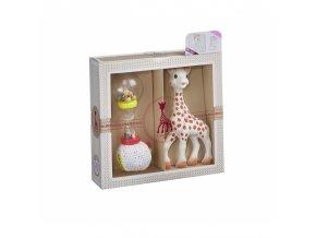 Vulli Dárkový set - žirafa Sophie + měkké marakasy