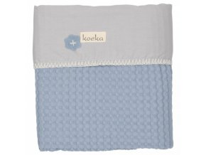 Koeka Deka Antwerp 75x100, waffle/flanel, soft blue/silver grey