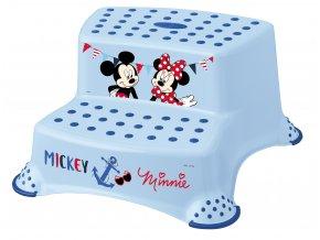 """Dvojstupínek k WC/umyvadlu """"Mickey&Minnie"""", Modrá"""