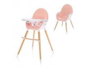 Dětská židlička Dolce, Blush Pink