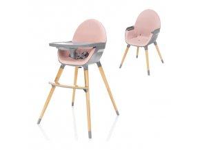 Dětská židlička Dolce, Blush Pink/Grey