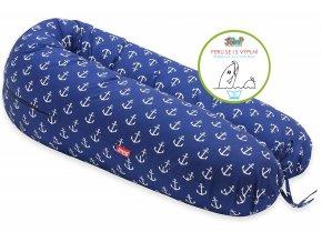 Scamp kojící polštář. 150x30,ancora blue