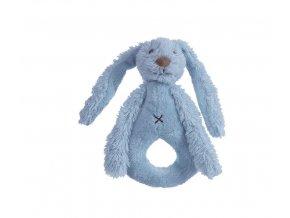 Happy Horse Chrastítko králíček Richie sytě modré  Velikost: 18 cm