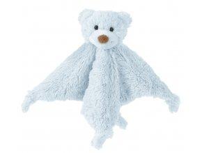 Happy Horse méďa Boogy přítulka s chrastítkem  modrá Velikost: 25 cm